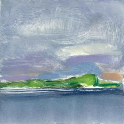Elizabeth Higgins, Far Shore, 2015, monoprint