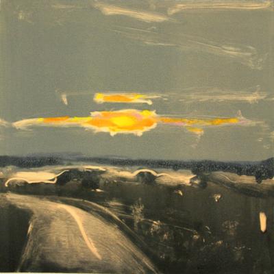 Elizabeth Higgins, Transcendent Sky, 2016, monoprint