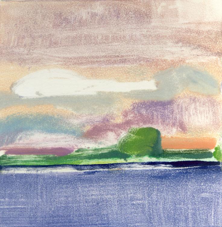 Elizabeth Higgins, White Cloud, 2015, monoprint