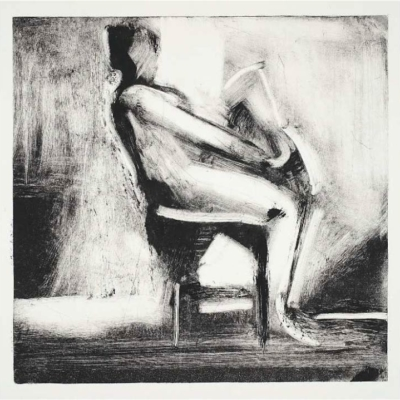 Elizabeth Higgins, Seated Nude